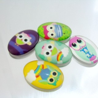 22696-02 PACK OF 5 PCS RESIN CABOCHON 25 X 35 MM