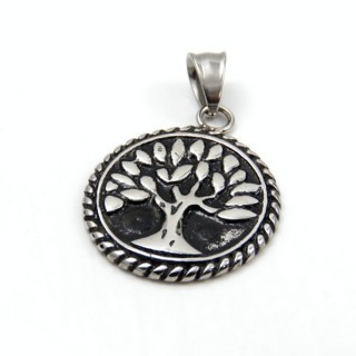 305870600000 STAINLESS STEEL TREE OF LIFE 28 MM PENDANT