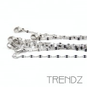 30451 PACK OF 5 STAINLESS STEEL 50 CM LONG CHAINS