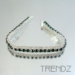 16578 EMERALD TWO TONE BLING BRACELET