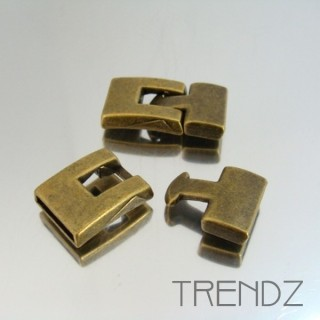 20319 BRONZE PACK OF 5 METAL CLASPS 14 X 2 MM B0339