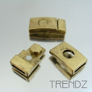20342 BRONCE PACK OF 5 MAGNETIC CLASPS 12 X 2 MM B0376