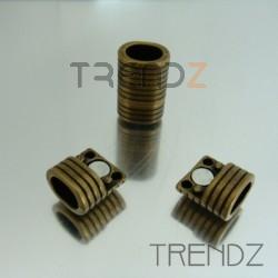 20743-29 BRONCE PAQUETE 5 CIERRES MAGNETICOS 10 X 8 MM