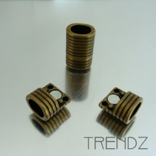 20743-29 BRONZE PACK OF 5 MAGNETIC 10 X 8 MM CLASPS