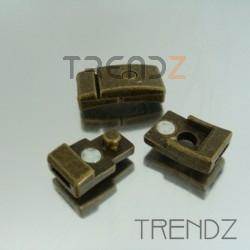 20743-33 BRONCE PAQUETE 5 CIERRES MAGNETICOS DE 8 X 2 MM