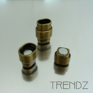 20292 BRONZE PACK OF 10 MAGNETIC 10 X 7 MM CLASPS
