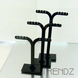 21912 NEGRO SET OF 3 EARRINGS STANDS IN ACRYLIC