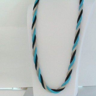22645-01 LONG METAL CHAIN TWISTED NECKLACE