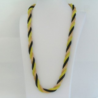 22645-02 LONG METAL CHAIN TWISTED NECKLACE