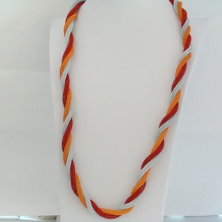 22645-03 LONG METAL CHAIN TWISTED NECKLACE