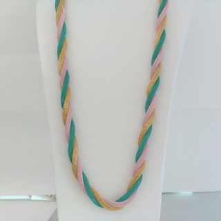 22645-04 LONG METAL CHAIN TWISTED NECKLACE