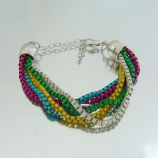 22656-01 BRACELET MADE WITH MULTIPLE CHAINS