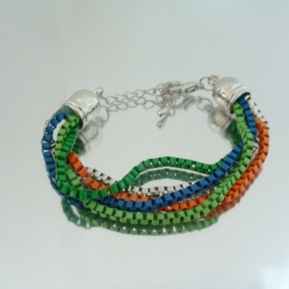 22656-03 BRACELET MADE WITH MULTIPLE CHAINS