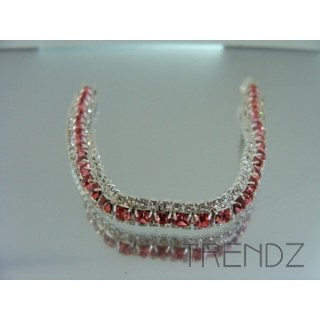 16578 ROSE TWO TONE BLING BRACELET