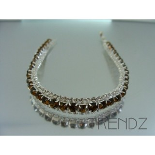 16578 TOPAZ TWO TONE BLING BRACELET