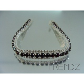 16578 AMETHYST TWO TONE BLING BRACELET