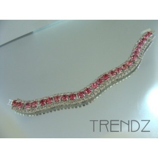 16577 ROSE WAVY BLING BRACELET IN COLOURS