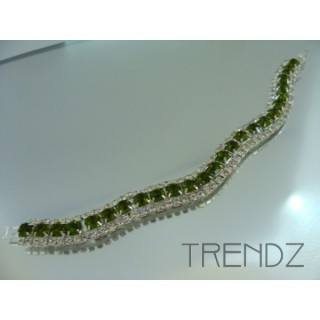 16577 OLIVINE WAVY BLING BRACELET IN COLOURS
