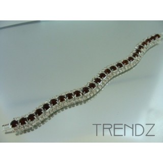 16577 TOPAZ WAVY BLING BRACELET IN COLOURS