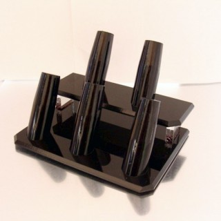 23163 BLACK ACRYLIC STAND FOR 5 RINGS 7 X 12 X 8 CM