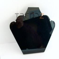 22638 BLACK BUSTO METRACILATO PLANO DE 18 X 18 X 6 CM