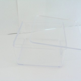 23469 TRANSPARENT BOX WITH COVER 5.5 X 9.5 X 9.5 CM