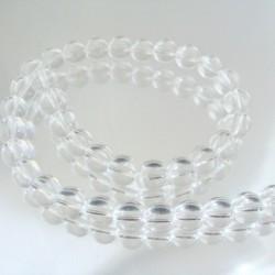23073-1 STRING OF 40 GLASS BEADS 8 MM IN DIAMETER