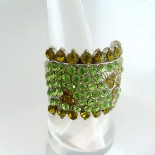 24579-012 ADJUSTABLE FASHION JEWELRY RING WITH GLASS