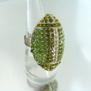 24579-042 ADJUSTABLE FASHION JEWELRY RING WITH GLASS