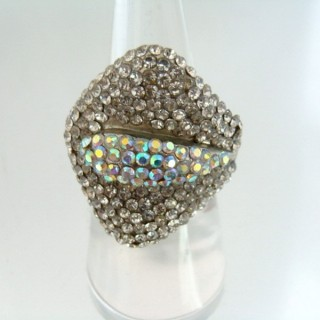 24579-308 ADJUSTABLE FASHION JEWELRY RING WITH GLASS