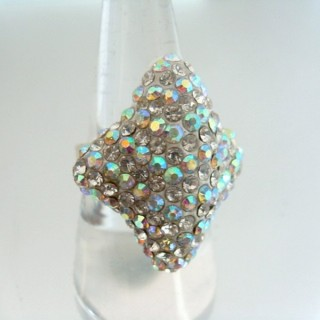 24579-319 ADJUSTABLE FASHION JEWELRY RING WITH GLASS