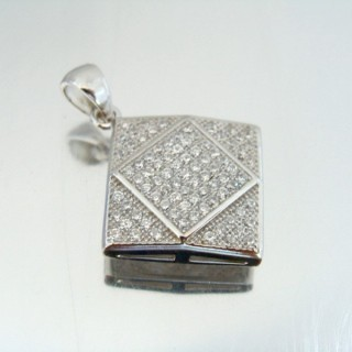 24659 SILVER PENDANT WITH RHODIUM PLATING 25 X 22 MM
