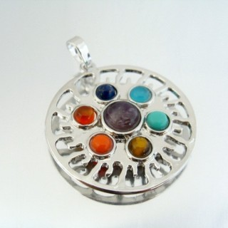 23004-16 FASHION PENDANTS WITH 7 CHAKRA STONES
