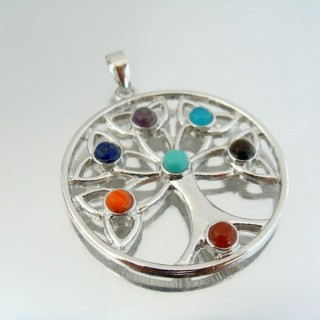23004-17 FASHION PENDANTS WITH 7 CHAKRA STONES