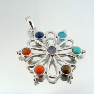 23004-19 FASHION PENDANTS WITH 7 CHAKRA STONES