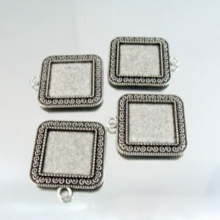 24214-38 PAQUETE 4 PCS BASE CAMAFEO INTERIOR: 20 X 20 MM