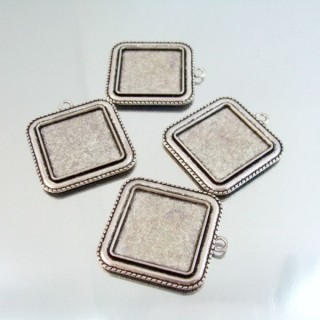 24214-40 PAQUETE 4 PCS BASE CAMAFEO INTERIOR: 25 X 25 MM