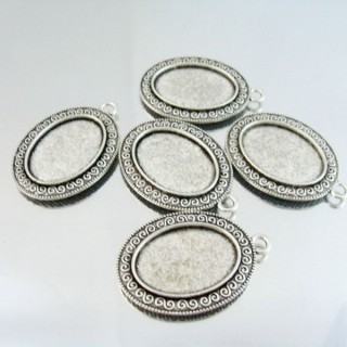 24214-41 PACK OF 5 PCS BASE FOR PENDANT INTERIOR: 18 X 25 MM