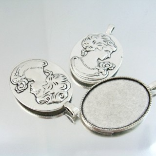 24214-43 PACK OF 3 PCS BASE FOR PENDANT INTERIOR: 30 X 40 MM