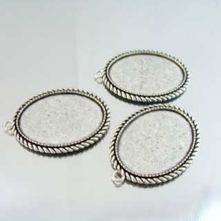 24214-44 PACK OF 3 PCS BASE FOR PENDANT INTERIOR: 30 X 40 MM