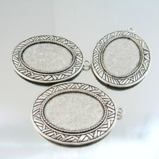 24214-47 PACK OF 3 PCS BASE FOR PENDANT INTERIOR: 25 X 35 MM