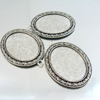 24214-48 PACK OF 3 PCS BASE FOR PENDANT INTERIOR: 30 X 40 MM