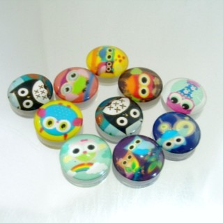 22598-02 PACK OF 10 PCS RESIN CABOCHON 20 MM