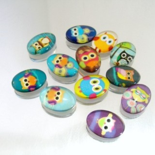 22693-02 PACK OF 12 PCS RESIN CABOCHON 13 X 18 MM