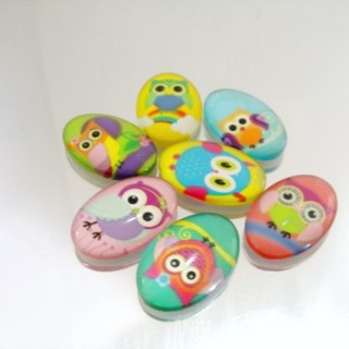 22695-02 PACK OF 7 PCS RESIN CABOCHON 20 X 30 MM