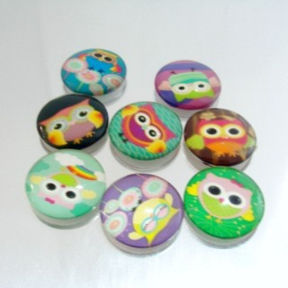 22699-02 PACK OF 8 PCS RESIN CABOCHON 25 MM