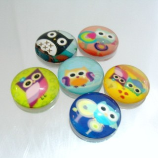 22700-02 PACK OF 6 PCS RESIN CABOCHON 30 MM