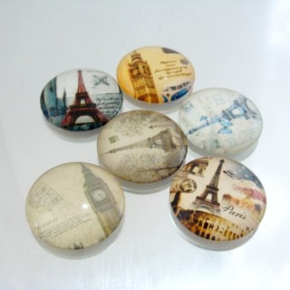 22700-03 PACK OF 6 PCS RESIN CABOCHON 30 MM