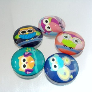 22701-02 PACK OF 5 PCS RESIN CABOCHON 35 MM