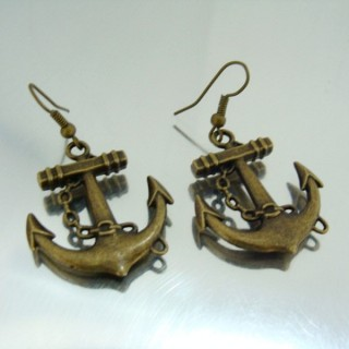 24268-03 METAL FASHION JEWELRY FISH HOOK EARRINGS